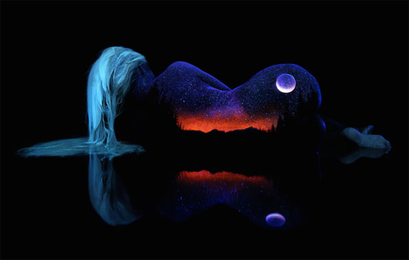 13 Fascinating Body Art Lit Up By Black Light