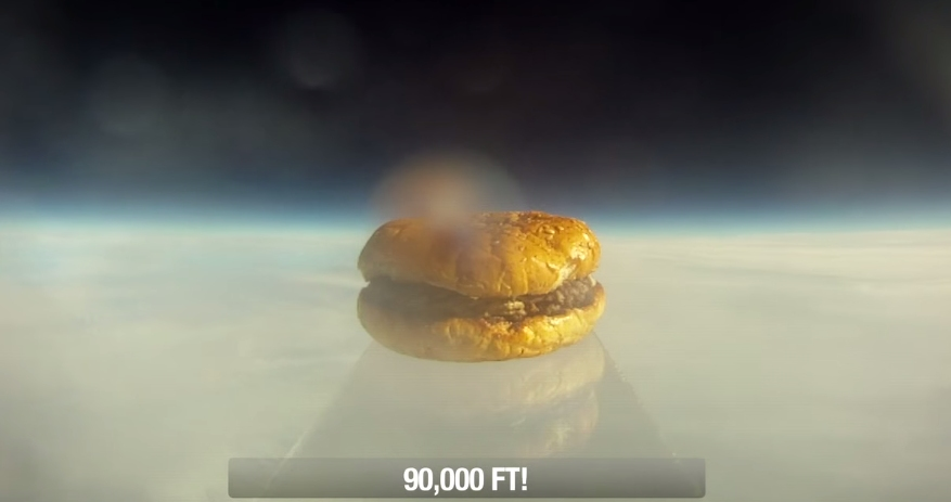 First Hamburger In Space