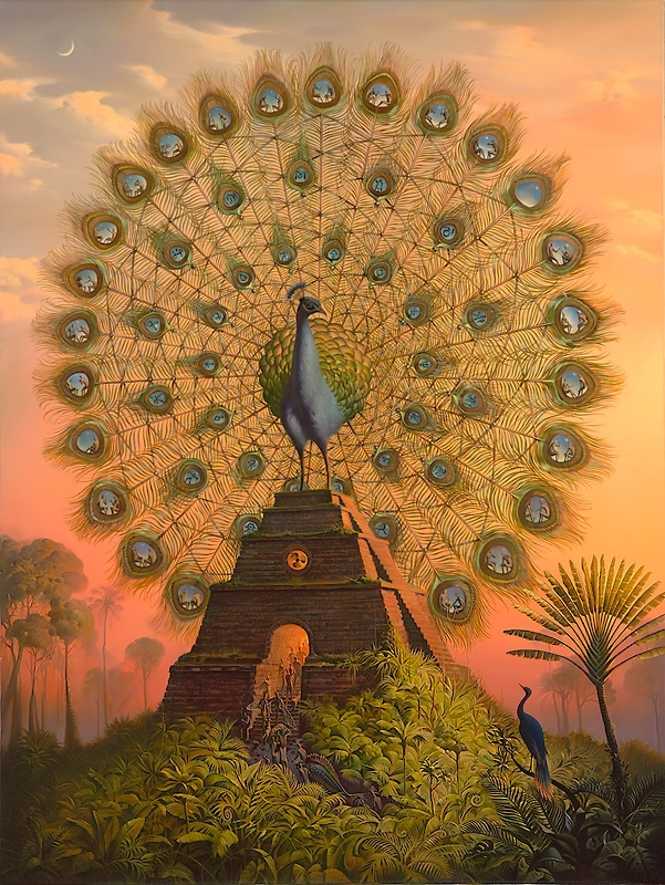 Crazy Awesome Paintings Sacred_Bird_of_Yucatan
