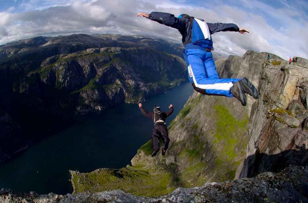 Top 10 Most Dangerous Sports in the World - BASE jumping