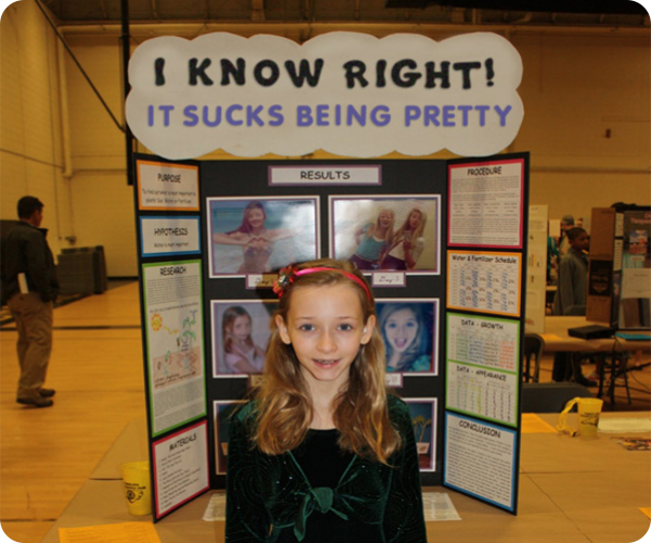 25 funny science fair projects that win in their own right for Pretty project
