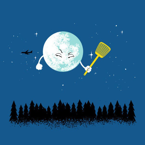 Artist 'FlyingMouse365? Imagines The Adventures Of The Moon In Space With These Awesome Illustrations