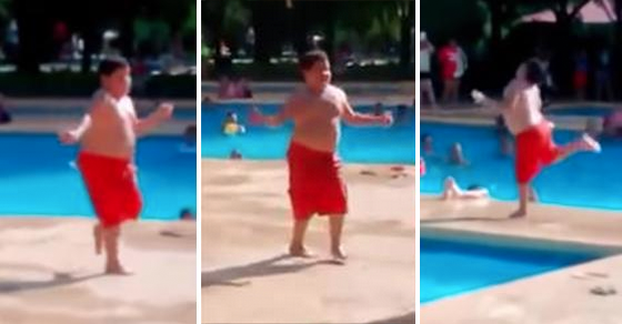"Kid At Pool Party Does A Truly Awesome Dance Routine To ""Cuban Pete"""