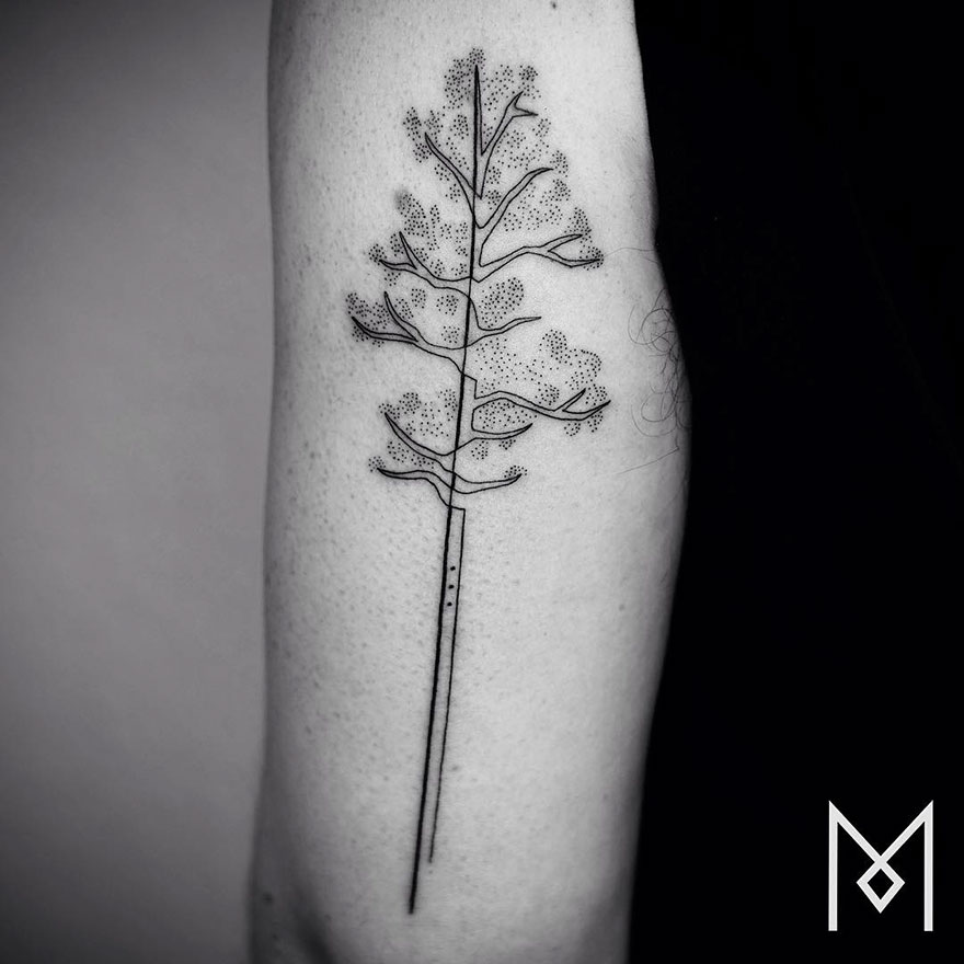 Single Line Tattoos