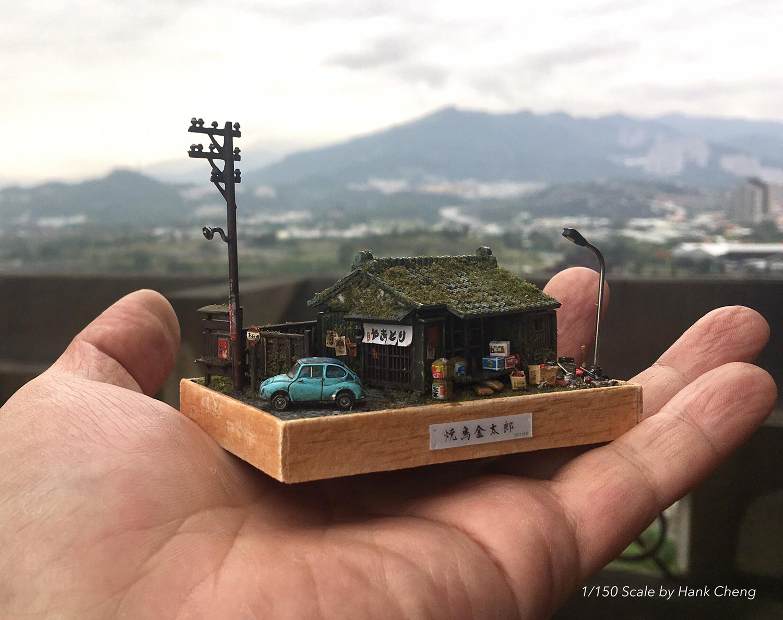 ARTIST MAKES MINIATURE MODEL OF HIS ROOM 35