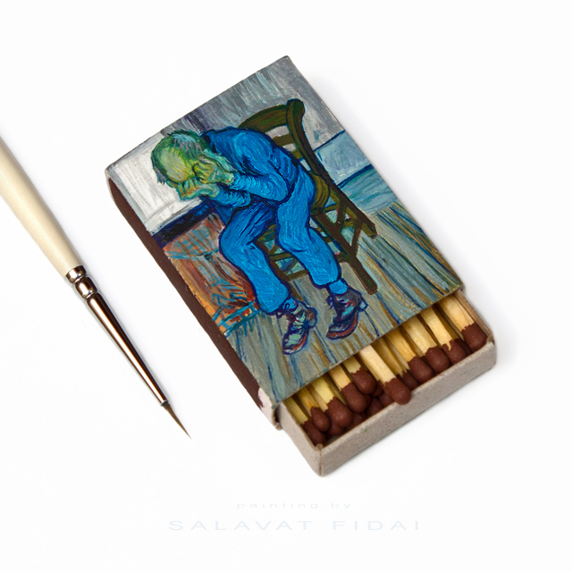 "Van Gogh Matchboxes - ""At Eternity's Gate"""