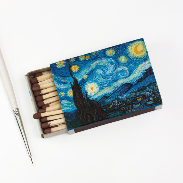 "Van Gogh Matchboxes - ""Starry Night"""